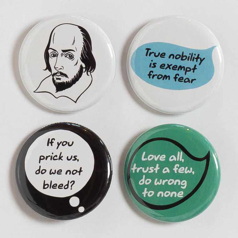 Shakespeare Buttons - Pack 1