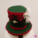 Handmade Mini Hat-Christmas wrapping theme hat