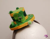 Handmade Mini Hat-Shamrock St. Patrick's Day hat