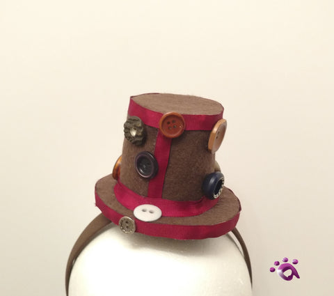 Handmade Mini Hat-With buttons