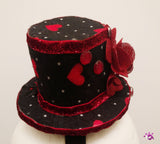 Handmade Mini Hat-with hearts and flower