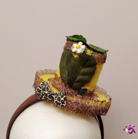 Handmade Mini Hat-Jungle themed