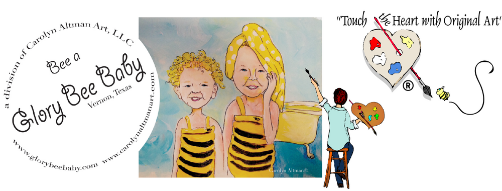 Glory Bee Baby is a division of Carolyn Altman Art which designs artistic baby memory books and creative paintings for each room in your home.