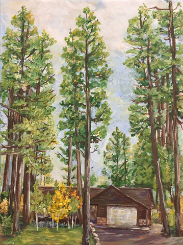 Pagosa Springs Mountain Cabin Painting