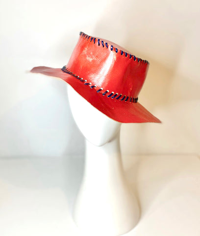 leather vintage hat from hands of imagination Byron Bay