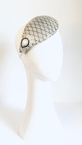 mesh wedding crown sustainably made by hands of imagination