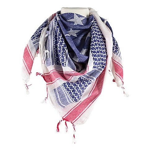 Red Rock Gear Shemagh Head Wrap USA Stars and Stripes