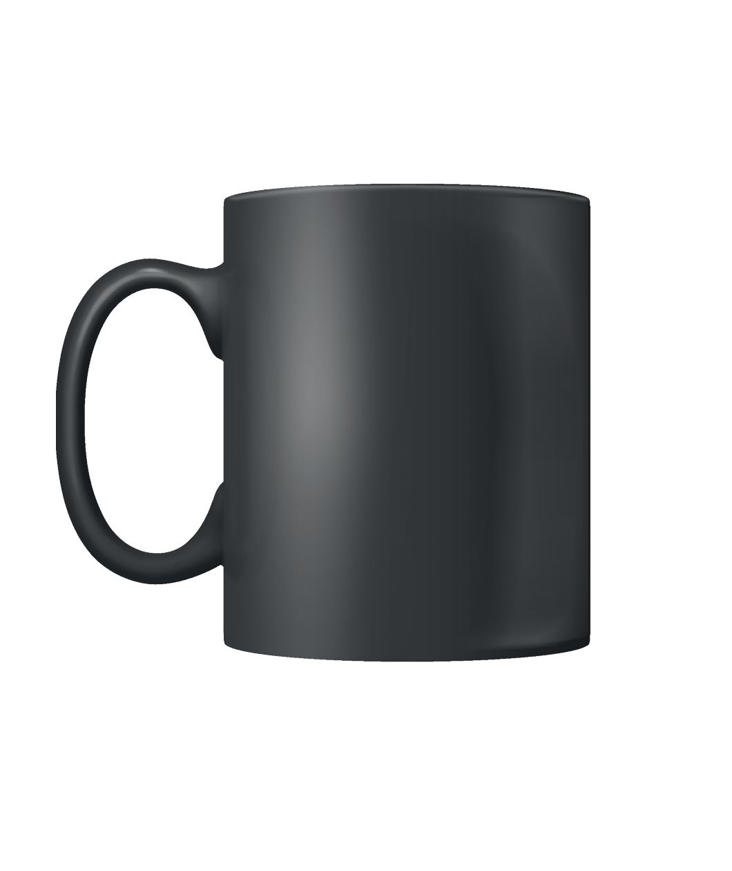 Black Coffee Mug. Color Coffee Mug