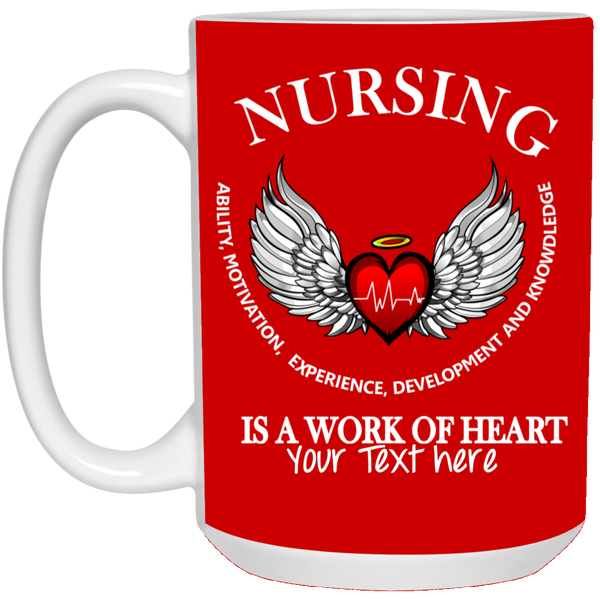 White Coffee Mug- Nurse Angel Wing