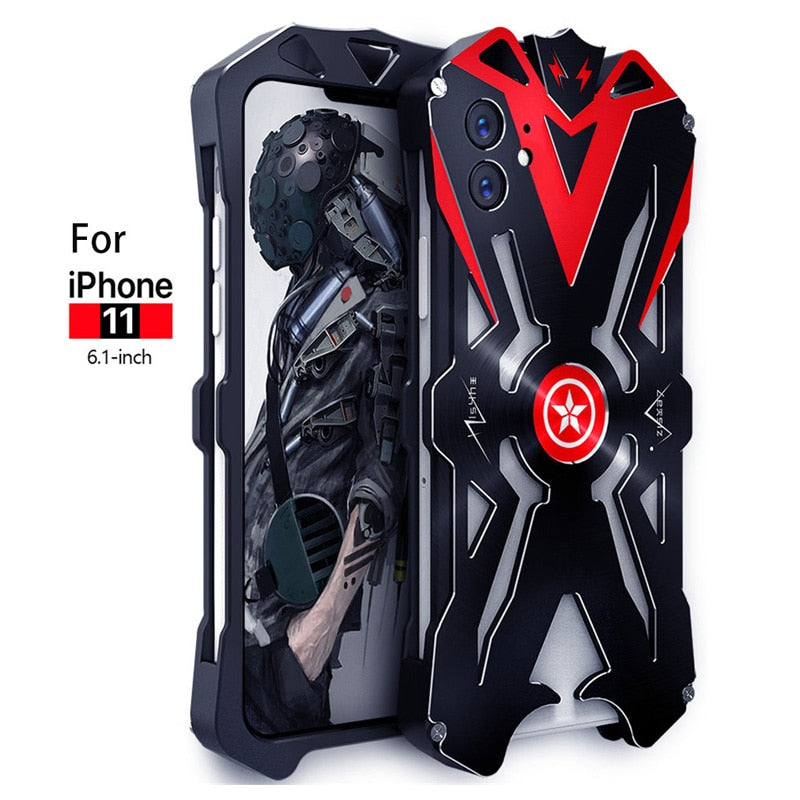 For iPhone 11 Pro Max Original ZIMON Shockproof Heavy Duty Armor Metal Aluminum Phone Case For iPhone 11/iPhone 11 Pro Case