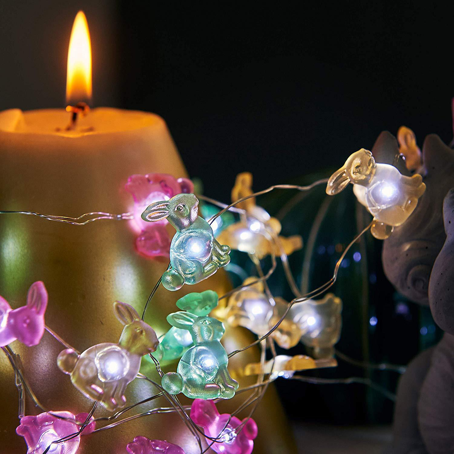 Rabbit Bunny Festive String Lights.