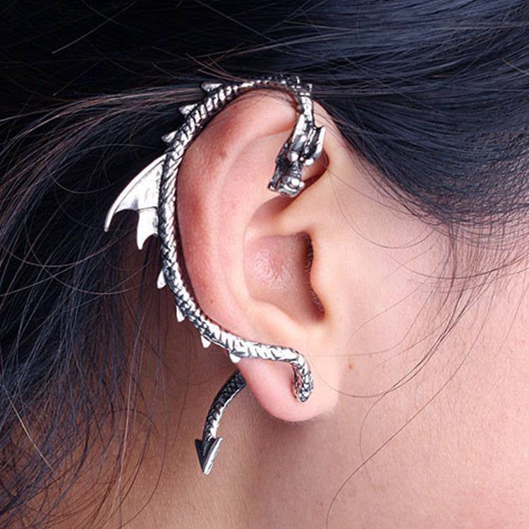 New Cool Punk Style Rock China Dragons Earring Vintage Fashion Jewelry