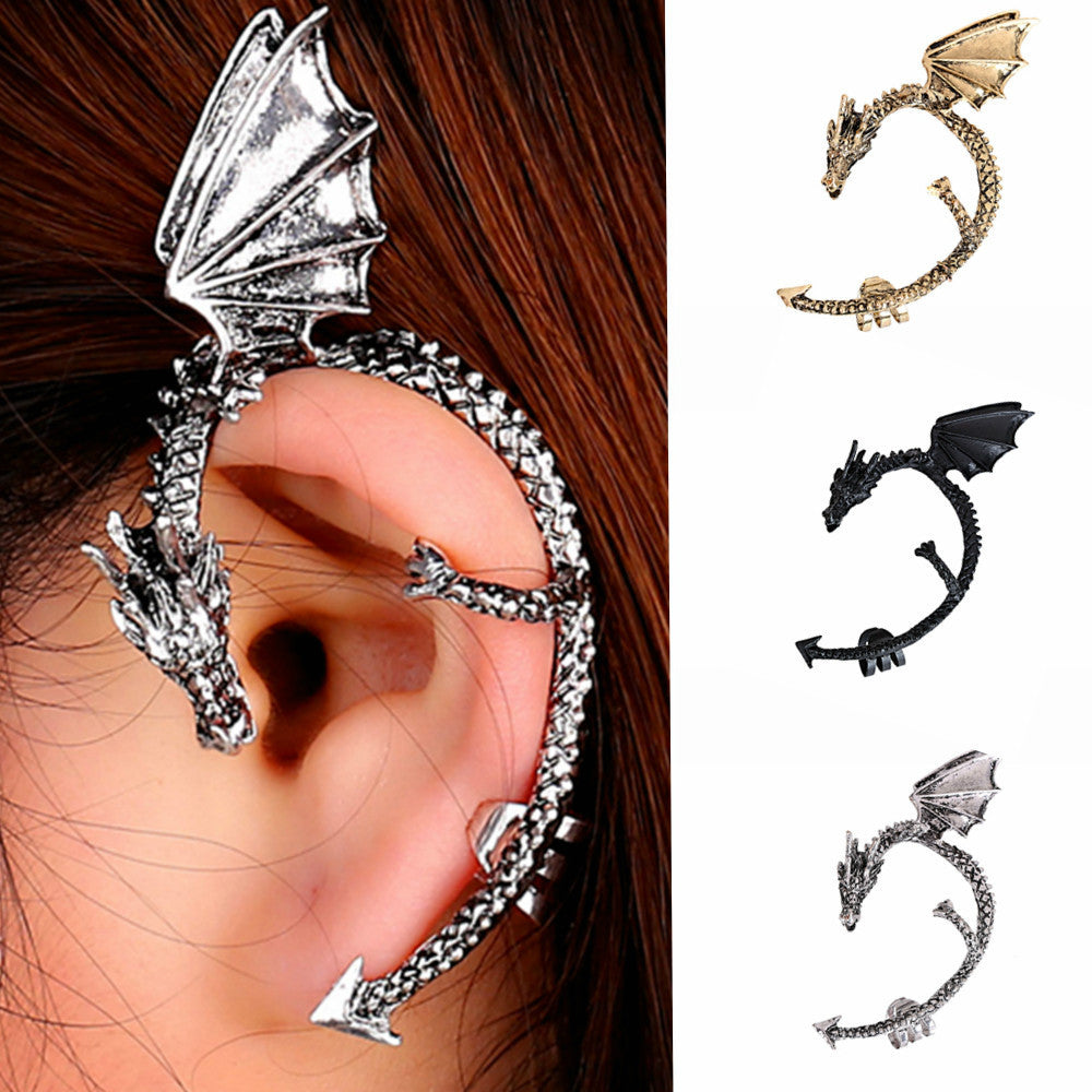 Retro Vintage Gothic  Dragon Shape  Earring Earrings for Women Men  Earrings
