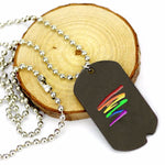 UNISEX-LGBT PRIDE RAINBOW NECKLACES .