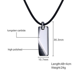 Mens  Necklaces With Black Rubber Rope 17 ""