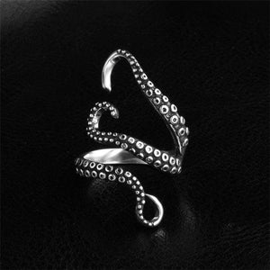 Deep sea Octopus Finger Opened Ring for Women Men.