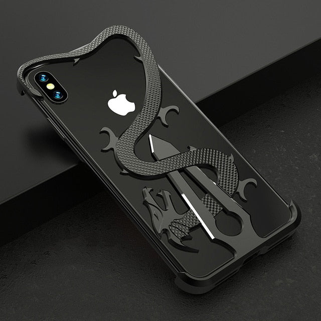 Metal Aluminum Alloy Armor Protective  Case for iPhone XR X Back Cover.