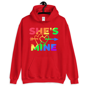 RAINBOW COUPLE HOODIES. SHE'S MINE.