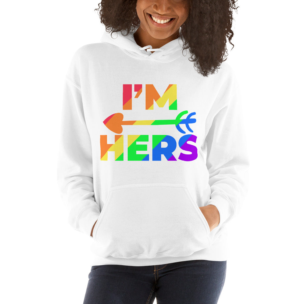 RAINBOW COUPLE HOODIES-I'M HERS.