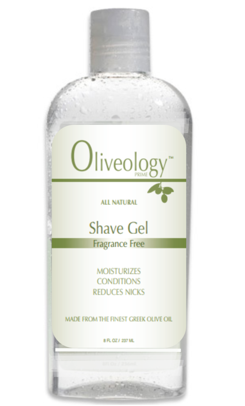Oliveology shave gel is an all natural olive oil based shaving product