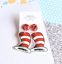 The Cat in the Hat - Polymer Clay, Resin and Acrylic Earrings