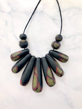 Drop necklace - polymer clay bead