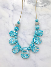 MARBLE - polymer clay drop necklace