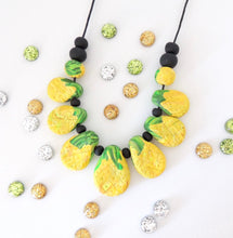 PINEAPPLES - polymer clay drop necklace // summer fruit