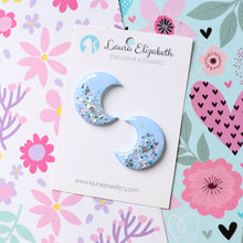 Lunar Moons - Morning - Polymer Clay & Resin Sparkle studs