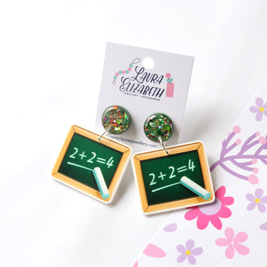 Maths - Polymer Clay, Resin and Acrylic Earrings