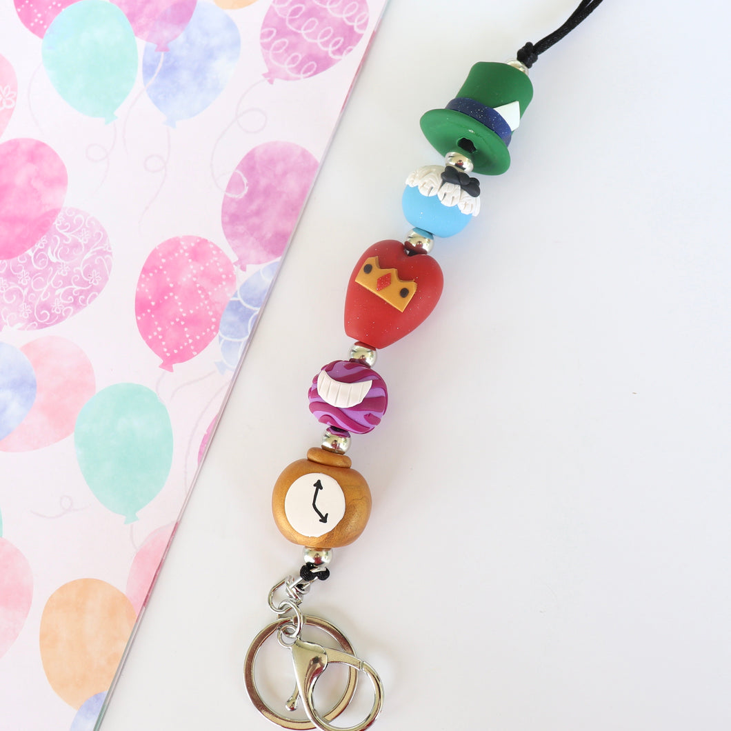 Alice Lanyard - Alice in Wonderland inspired lanyard