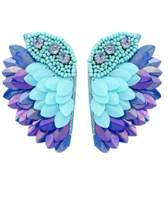 Ready to Fly Earrings: Light Blue