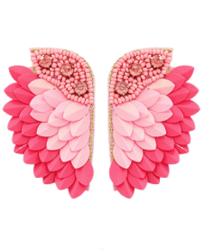 Ready to Fly Earrings: Pink