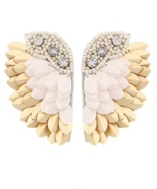 Ready to Fly Earrings: White/Gold