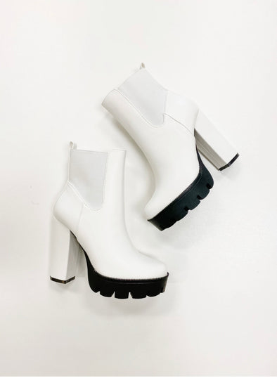 The Whitney White Booties