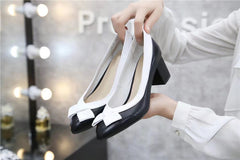 Fanah 2018 Office Lady Shoes Woman Shoes Leather FNS1803004