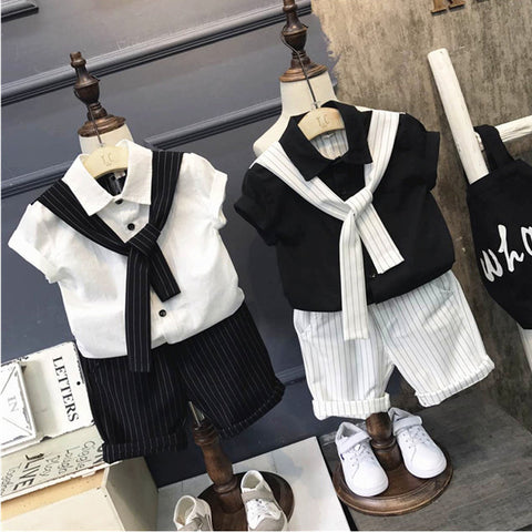 2018 summer new boys' suits two pieces of clothing for children's performance, festival dress.
