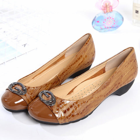 Fanah 2018 Office Lady Woman Shoes Professional Shoes High Heel Leather FNS1803005