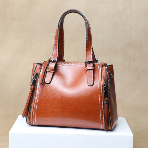Fanah Leather Bag Woman Lady Handbag 2018 Quality Tote Bag Office Bag Single Shouler Bag FNB1801038
