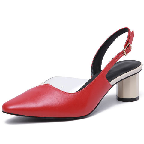 Fanah 2018 Fashion Woman Shoes Leather Office Lady Shoes Quality Shoes FNS1803007
