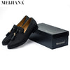 FANAH Handmade Metal fashion gold Tassel of Loafers Red Bottom Loafers Gentleman Luxury Fashion Stress Shoes Men Brand Men Shoes