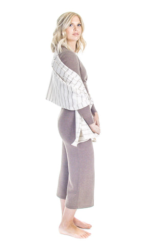 Sweater Pant and Ballet Sweater with Edison Wrap Scarf