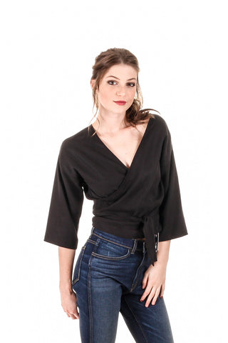 Hackwith Design House - Reversible Wrap Top | Joon + Co. Women's Shirts