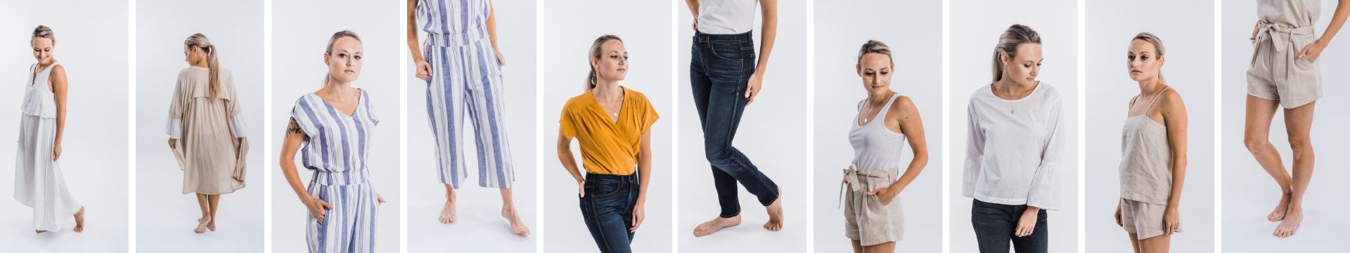 shop eco-friendly pieces from our Destination Capsule wardrobe, the perfect travel capsule for minimalists