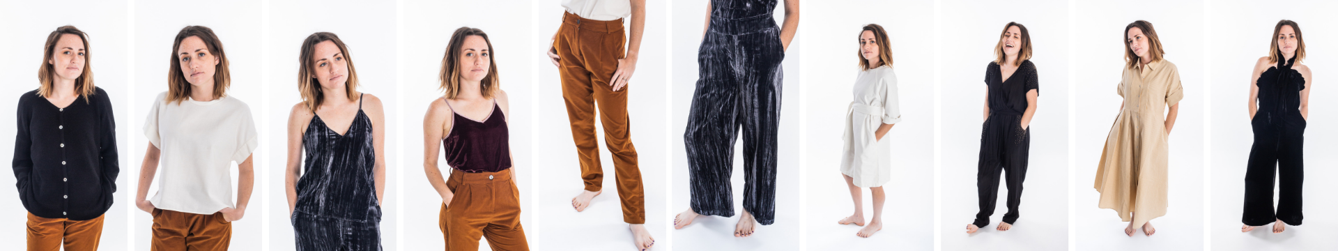 shop ethical clothing items from our Festive Capsule wardrobe, perfect for a minimalist Holiday.