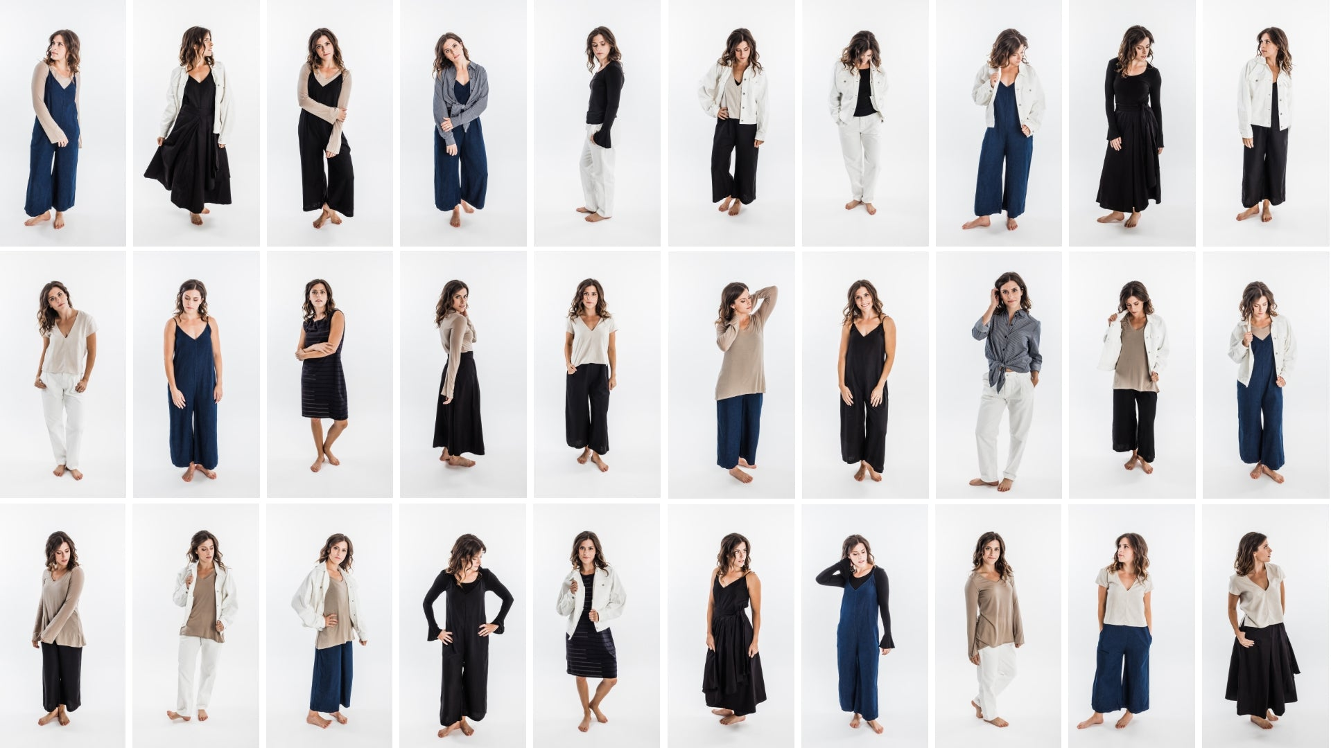 shop sustainable clothing pieces from our pre-made Modern Capsule wardrobe