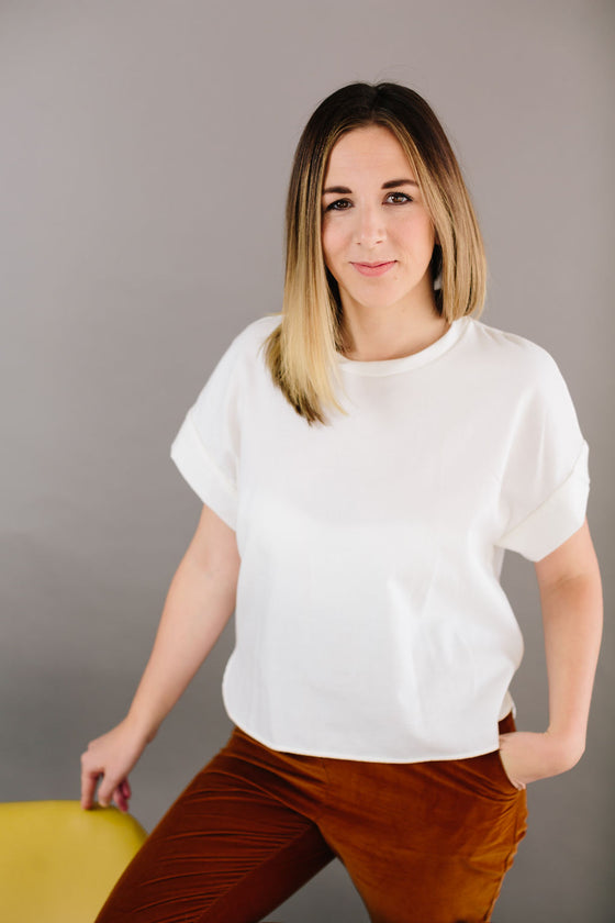 Jungle Folk - Emily Shirt | Women's White Blouse | Joon + Co. Holiday Capsule Wardrobe