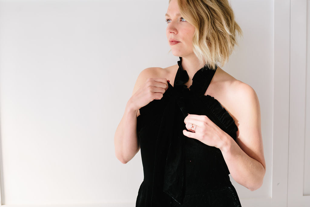 Kristinit - Arabesque Jumpsuit - Black Velvet | Holiday Capsule Wardrobe