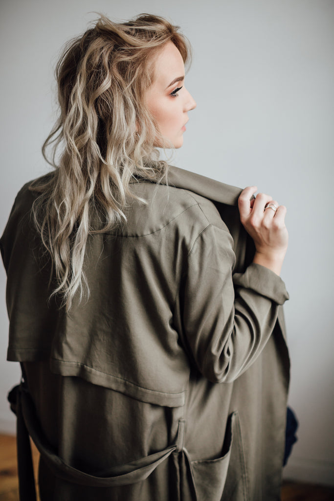 Tencel Trench Coat