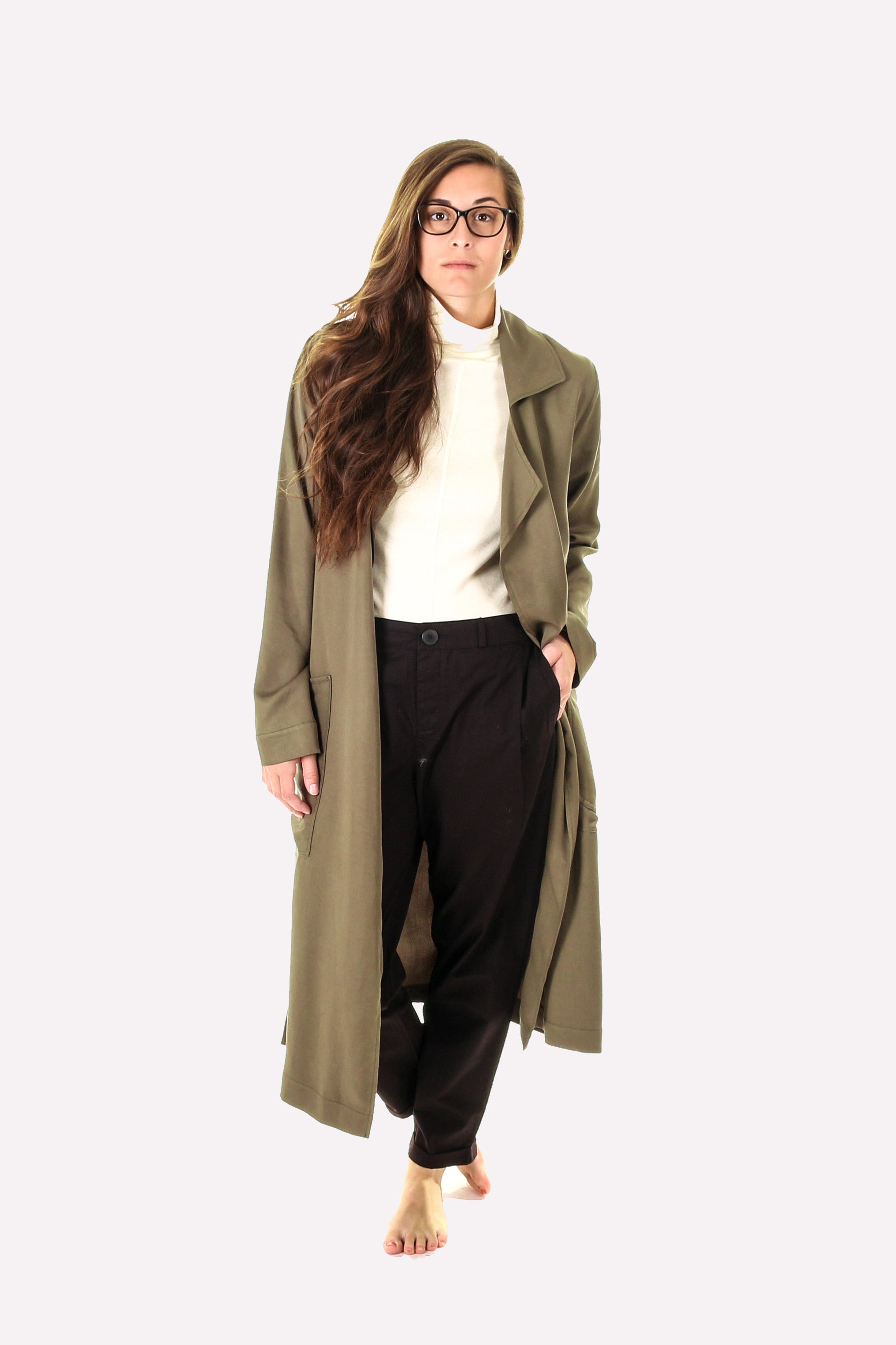 Hackwith Design House Tencel Trench Coat | Women's Coats